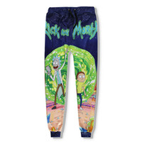 Wholesale Wholesale Jogger Pants Women - Wholesale- New Fashion For Men Women Baggy Jogger Casual Pants 3D Print Rick And Morty Cartoon Sweatpants Hip Hop Trousers