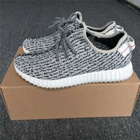 Wholesale Mens Shoe Laces Wholesale - 350 BOOST TURTLE DOVE GREY LOW MENS WOMEN SPORTS RUNNING SHOES PIRATE BLACK FASHION SPORTS FOOTWEAR SHOES WITH ORIGINAL BOX
