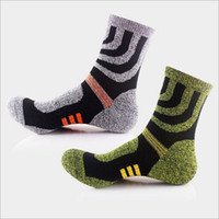 Wholesale Trek Socks - Professional Comfortable Elasticity Breathable Thick Outdoor Climbing Trekking Riding Bicycle Men Brand Sport Socks 10 Pair lot