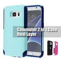 Wholesale Wholesale Cases Galaxy S4 - For iphone 7 7plus Commuter Hybird Case Shockproof Armor Cover Cases For Iphone 5 5s 6 6plus Samsung Galaxy S4 S5 S6 S7 Edge s8