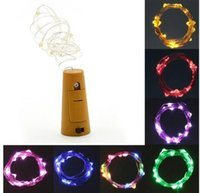 Wholesale Thin Wire String Lights - New 2M 20LED lamp Cork Shaped Bottle Stopper Light Glass Wine LED Wire fairy String Lights Bar Party Supplies Wedding Decoration