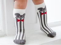 Wholesale Knitting Booties Infants - New Cotton 3D Cartoon Girls boys Baby Socks Baby Booties Children Knit Knee High Socks stripe animal Infant Sock Toddler Best Socks A658