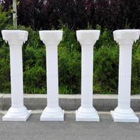 Wholesale Upscale Christmas Decorations - Upscale Style Roman Columns White Color Plastic Pillars Road Cited Wedding Props Event Decoration Supplies 4 pcs lot