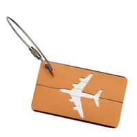 equipaje de aluminio al por mayor-Rectángulo de Aleación de Aluminio Etiquetas de Equipaje Accesorios de Viaje Etiquetas de Nombre de Equipaje Maleta Titular de la Etiqueta de Dirección
