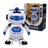 Wholesale Electric Music Rotating - Space Dancing Robot Brand New 360 Degrees Electric Rotate Light Music Infrared Toy Various Styles Eco Friendly Material Made 16tf I1