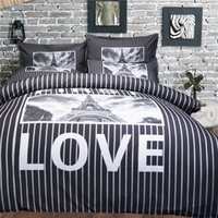 Wholesale Black White Quilt Fabric - Black and white style Duvet Cover Set 2PC-3PC Quilt Cover Pillowcase Twin Full Queen King Size 2 Nice Patterns Fashion Bedding Sets