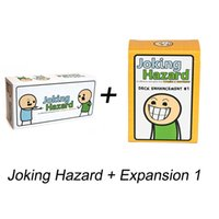 Wholesale Happiness Cards - Joking Hazard Party Game Funny Card Kickstarter Cyanide And Happiness Box + Expansion 1