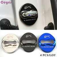 Door lock Cover Car Emblems Stainless Steel Case For ex-lancer mitsubishi asx lancer 9 10 car door lock protector Auto Accessories Styling