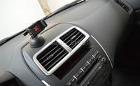 Wholesale Trim Chromed - accessories gauges 5PCS SET Air Vent Covers Trim Matte ABS Chromed Kits Inner Car Accessories Fit For Mitsubishi ASX 2011