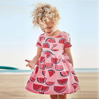 Wholesale Sunmmer Dress - Toddler Baby Girls Fruit Dresses Kids Princess Casual Dress 1-6Years Children Clothes Girls Jumpers Newborn Printed Clothing 2017 Sunmmer