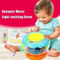 Wholesale Wholesale Drum Lighting - Music Light-emitting Drum Puzzle Educational Toy Baby Learning Infant LED Toys