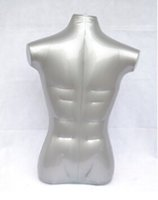 Wholesale Inflatable Male - Freeshipping! wholesale Jewelry clothing model show Thicker section inflatable mannequin male model bust without arms,M00012
