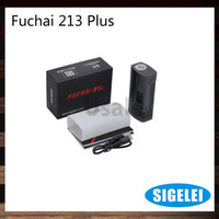 Wholesale Wholesale Sliding Doors - Sigelei Fuchai 213 Plus TC Box Mod 10~213W OLED Display Screen Sliding Battery Door Cover Overheating Prevention 100% Original