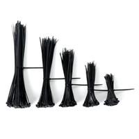 Wholesale Wire Zip Ties - Self-locking Nylon Cable Ties Zip Ties Fasten Assorted Plastic Zip Wire Tie-Wrap Strap in Black 4'' 6'' 8'' 10'' 12''