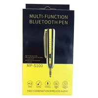 Kostenlos Mps Musik Kaufen -MP-S100 Multifunktions-Bluetooth-Stift 3.5mm Bullet Wireless Bluetooth 4.1 Empfänger-Musik-Lautsprecher Freie Kombination Wireless Audio