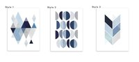 Wholesale Spray Paint Images - Single Unframed Geometric Image Abstract Painting Oil Painting On Canvas Giclee Wall Art Painting Art Picture For Home Decorr