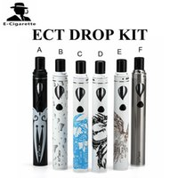 Wholesale E Liquid Colors - ECT DROP Kit With 2ml Liquid Capacity 2200mAh Battery E cigarette Starter Kit 6 Colors DHL Free