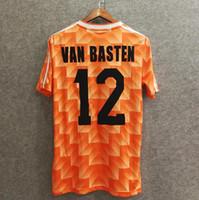 787dc71447f Classic 1988 Netherlands retro soccer jerseys home custom name number van  basten 12 Velvet font football shirts AAA quality hooland