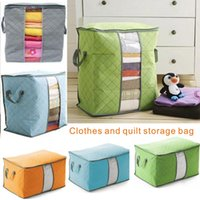 Wholesale Silk Family - Clothes and Quilt Storage Bag Nonwoven Fabric Family Seasonal Sstorage When not in use can fold and save space.