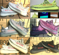 Wholesale Orange Size Dark - Yebra 350 V2 Boost 2018 B37572 Semi Frozen Yellow orange dots B37571 Blue Tint B37573 Violet V2 Size 36-46 V2 350 Running shoes