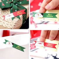 Wholesale Merry Christmas Baking - New Merry christmas Santa Claus Snowman Seal Sticker Xmas Santa Claus Snowman Seal Sticker party baking package paper tags labels C2034