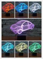 Wholesale projection for car for sale - Group buy 3D Lamp Night Light Beetle Car Led Night Lights for Kids USB Battary Table Desk Lamp Baby Children Gift Bedroom Sleeping Nightlight