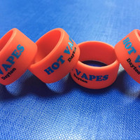 Wholesale Printing logo vape bands wide custom silicone ring with text or website manufacturer wholesales price small MOQ