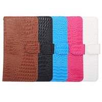 Wholesale Top Inches Phone - Top quality cell phone case universal wallet case Flip Leather Case Credit card Cover With 4 colors for 4.8 inch 6 inch mobile phone
