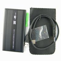 sata ide sabit disk caddy toptan satış-2.5 inç USB 2.0 HDD Durumda Sabit Disk Disk SATA Harici Depolama Muhafaza Kutusu Perakende Kutusu Paketi DHL ücretsiz kargo
