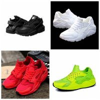 Wholesale trainer shoes wholesale - Air Huarache Ultra Running Shoes Big Kids Boys and girls Black White Air Huaraches Huraches Sports Sneakers Athletic Trainers Shoes A035