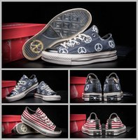 Wholesale American Classic Shoes - 2017 Converse 1970S Chuk Taylor All Star Canvas Shoes Men Women Classic American USA Flag Stripe Converses Skateboard Sneakers