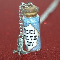 Wholesale Wholesale For Cowboy Boots - 12pcs Reach for the Sky Magical glass Bottle Necklace with a Cowboy Boot Charm Woody Western Toy Story Inspired necklace