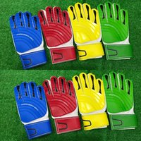 Wholesale Green Board Games - adult Light board glove gloves goalkeeper gloves men soccer game training gloves protection green blue red yellow One Size