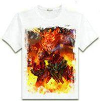 Wholesale Monkey Design Clothing - Wukong T shirt The Monkey king short sleeve League of Legends design tees Lol Game clothing Men cotton Tshirt