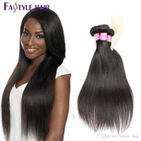 Wholesale Brazilian Remy Hair 5pcs - Wholesale Brazilian Straight Hair Bundles 5pcs lot TOP Quality Hair Weave Peruvian Malaysian Indian Unprocessed Virgin Hair Extensions