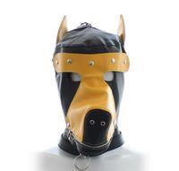 Wholesale Muzzle Coupling - NEW Design PVC Dog Muzzles fully enclosed head restraint headgear with Zipper Bondage Hood Mask Sex toys Masks for Couple SM Games