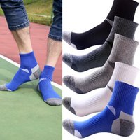 Wholesale Swim Sport Accessories - New Mens High Quality Cotton Socks Deodorant movement male socks high elite basketball football soccer sports crew sock Short Tube Concise