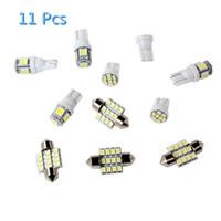 audi a4 xenon lights h7 achat en gros de-11 Pcs Blanc LED lumières de lecture de voiture T10 31mm Dôme Carte Tag lampe pour Kit Intérieur Kit CLT_06Q