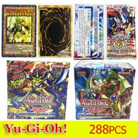 Wholesale Oh Cards - YuGiOh Trading Card Games English Version Yugioh Flash Card Toy Yu Gi Oh Duel Cards Protectors Toys 288pcs Free DHL