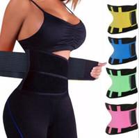 corsés de fitness al por mayor-Cinturón de la aptitud de las mujeres Cincher Cintura Trimmer Corsé Ventilar Ajustable Tummy Trimmer Entrenador Cinturón Pérdida de peso que adelgaza la correa CCA7222 20pcs