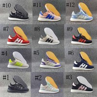 Wholesale Runner Floor - 2017 New Arrival Top Quality Iniki Runner Boost Sneakers Fashion Iniki Boost Women Men Red Blue Grey Leather Sports Running Shoes Size 36-44