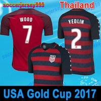 Wholesale Team Usa Football Jersey - USA Soccer Jerseys fans American National Team 2017 2018 Gold Cup United States Football shirts DEMPSEY DONOVAN BRADLEY PULISIC