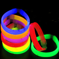15 * 200mm Multi Color Glow Fluorescence Light Sticks Bracelet Collier Light Neon Xmas Party Flashing Toy ZA3975