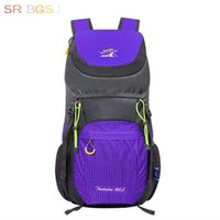 Atacado- Free Ship 7 Colors 40L Nylon Folding Waterproof Big Mochila Rucksacks Road Bag Mochila Riding Mochila Pacote Ride