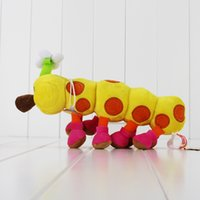 "Wholesale Mario Bros Wiggler Toy - Wholesale- Cute Super Mario Bros Wiggler Plush Toys Caterpillar Soft Stuffed Toys Dolls For Kids 10"" 25cm"