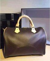 Wholesale Backpack Shoulder Bag Case - Fashion brand classic Women's Speedy 30 Handbag Wristlet Leather shoulder bag totes bags backpack Purse Wallet 526 03 free shipping