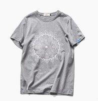 Wholesale Blast Shirt - New blasting rotten niang lotus guanyin men printing short sleeve T-shirt big yards short sleeves