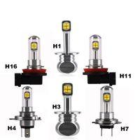 Wholesale Auto Lamps H4 - A18 2017 NEWEST H1 H3 H4 9003 HB2 H7 H11 H16 80W With CREE Auto Car LED Lights 1500lm Fog Lamps TDRL Headlights White 6000K 2pcs set