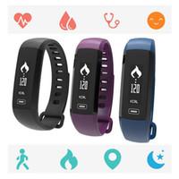 medidores de fitness al por mayor-jcd Nuevo M2 Presión Arterial Reloj de Pulsera Medidor de Pulso Cardiaco Banda Inteligente Gimnasio Rastreador Smartband Llamar SMS iOS Android Pulsera Mi