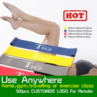 Wholesale Tension Resistance Band Pilates Yoga Rubber Resistance Bands Fitness Loop rope Stretch Bands Crossfit Elastic Resistance Band Bodybuilding